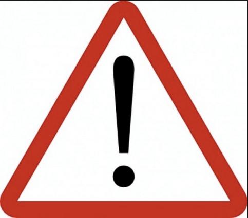 Warning sign image 00.25 AM