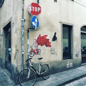 Bike street art in Florence