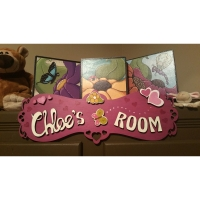 Sign for girl's room