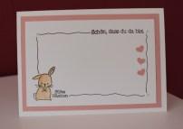 Stampin Up! Baby Geburt Karte rosa