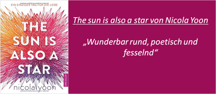 The sun is also a star - Rezension