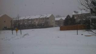 Accumulation of snow in progress.