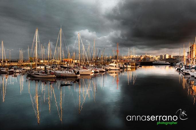 A Coruña - Galicia - Spain - La Marina area