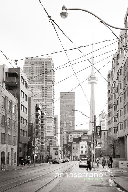 Toronto, OCAD University and CN tower