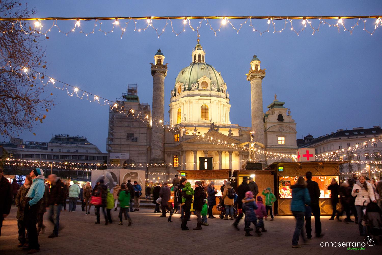 Austria, Vienna, Christmas, Karlsplatz Christmas Market