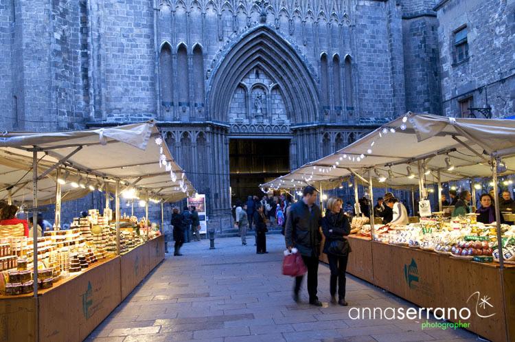 Christmas - Barcelona - Catalonia - Spain - Gothic Area - Plaça del Pi - Las Ramblas