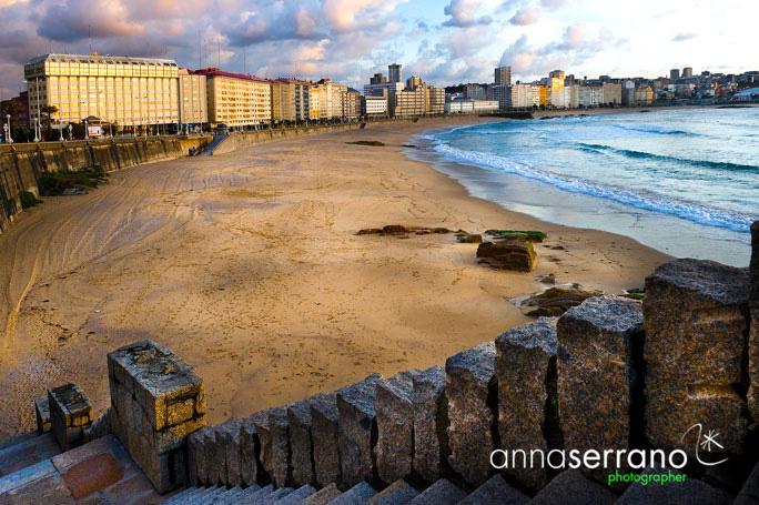 A Coruña - Galicia - Spain - Orzán Bay