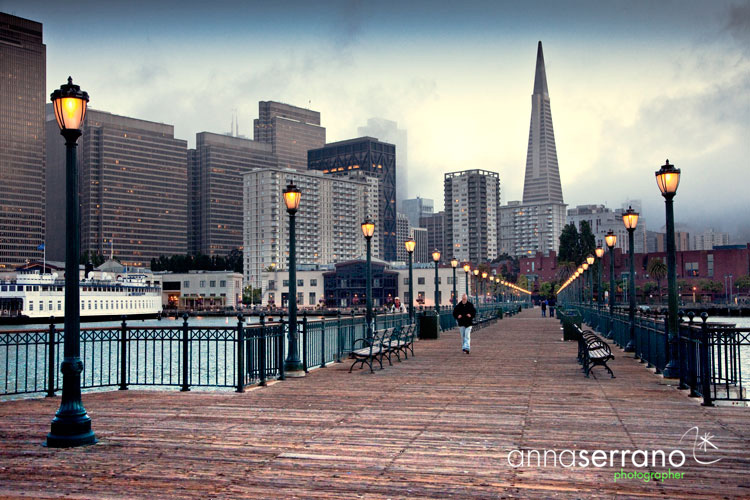 United States, California, San Francisco, San Francisco from the piers