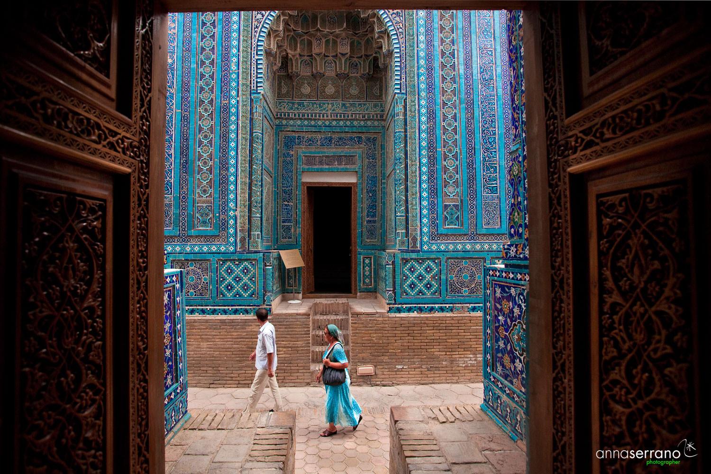 Asia, Uzbekistan, Samarkanda, Shakhi Zinda Necropolis