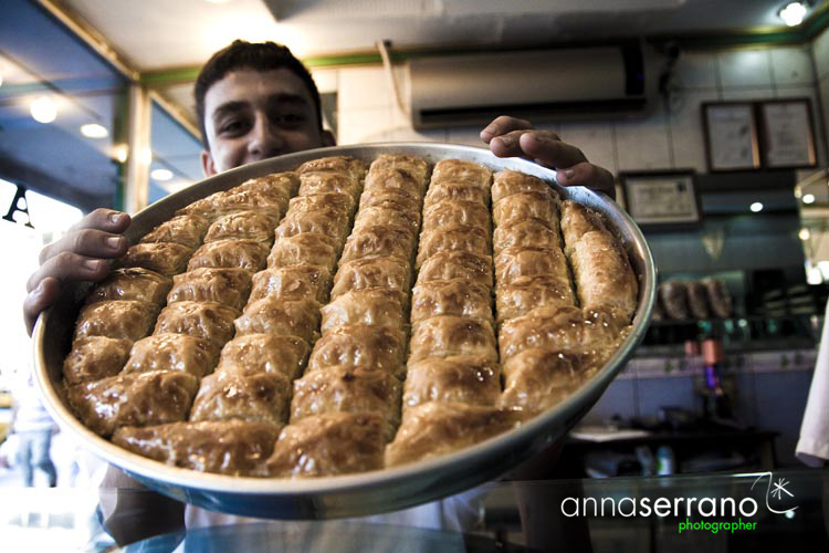 Turkey, South Eastern Anatolia Region, Gaziantep, famous baklava from Antep