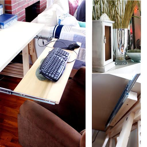 diy poplar keyboard drawer