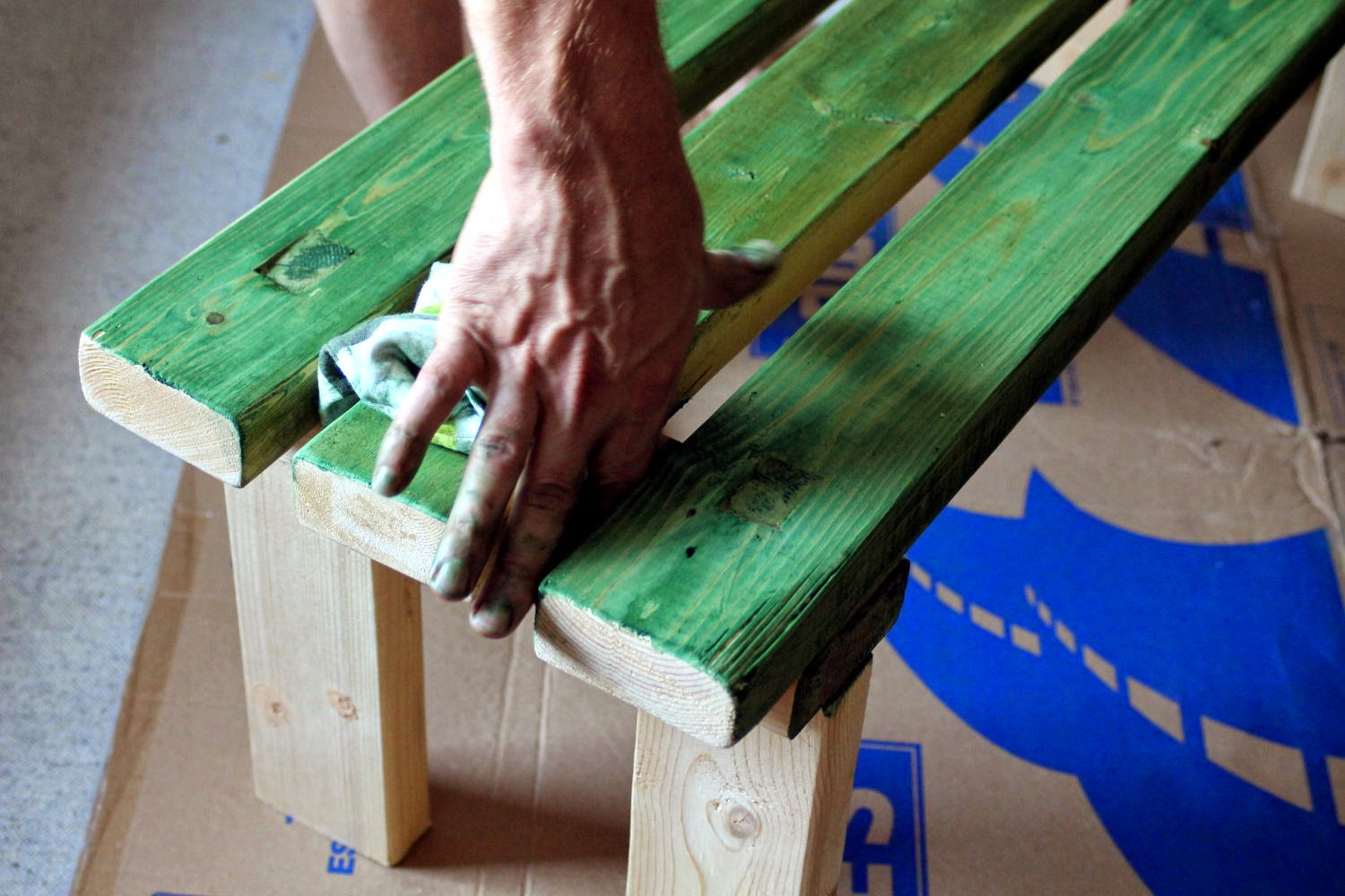 Natural Green Wood Stain