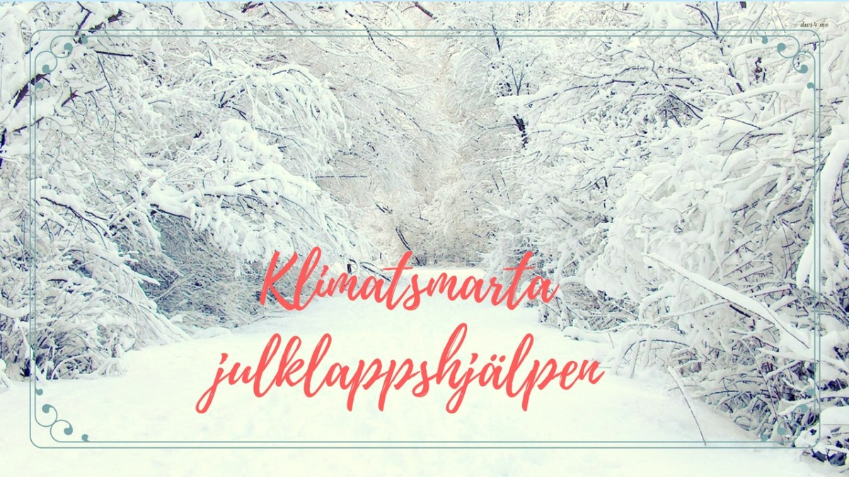 Klimatsmarta julklappshjälpen - the Zero Waste Edition