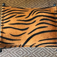 Tiger Print Chair Fold Out Lounge X Form Bench  Antique And Art Consignment