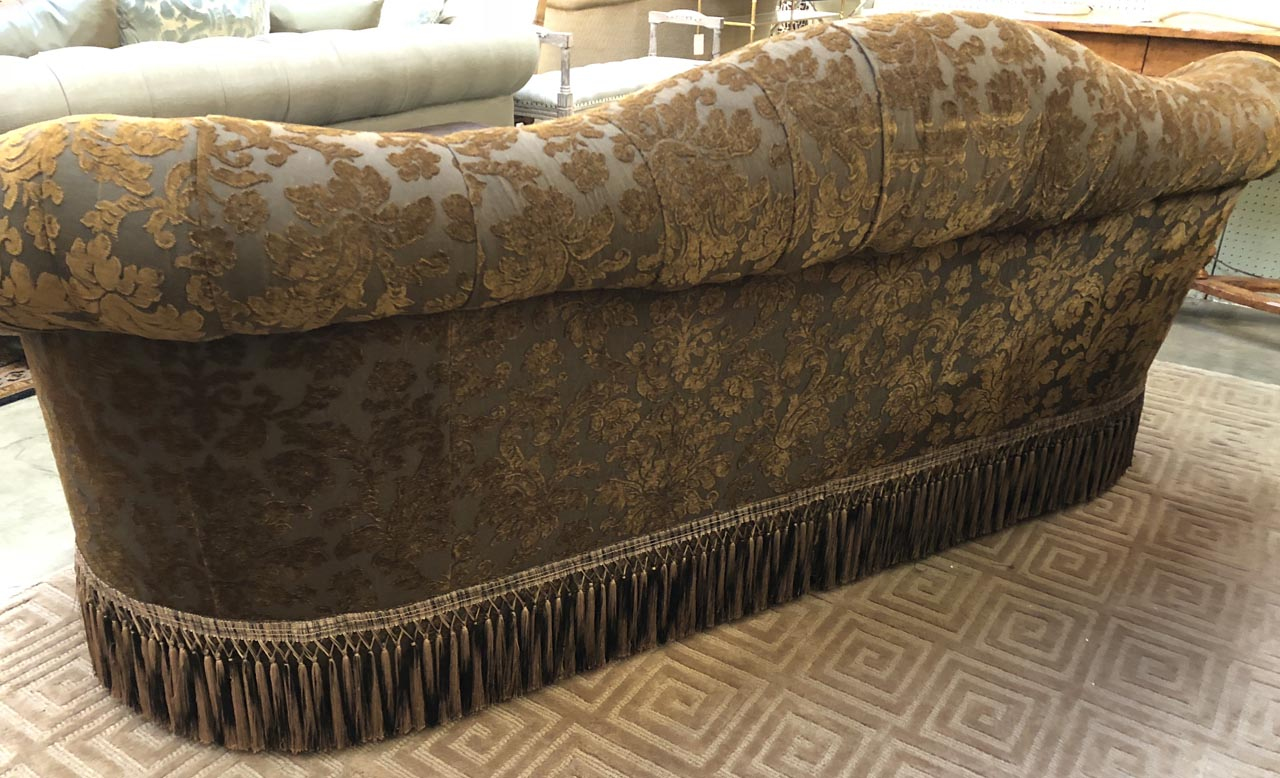 mostly sofas oregon faux leather sofa bed reviews brown damask  antique and art consignment highwood