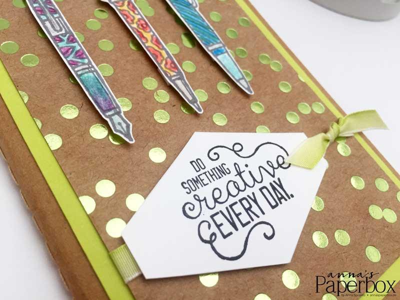 Notizheft mit Stampin' Up! Produkten aufgepeppt - Crafting Forever, Kreiert mit Liebe