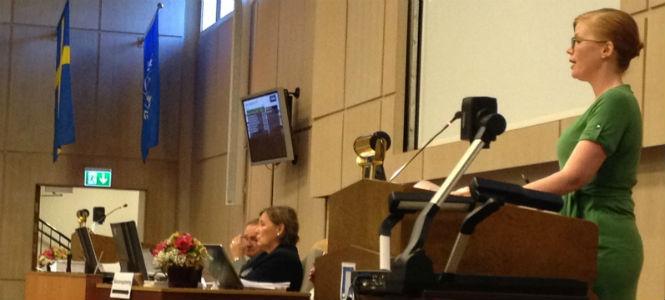 Anna Starbrink talar om en budget för kultur och kreativa näringar