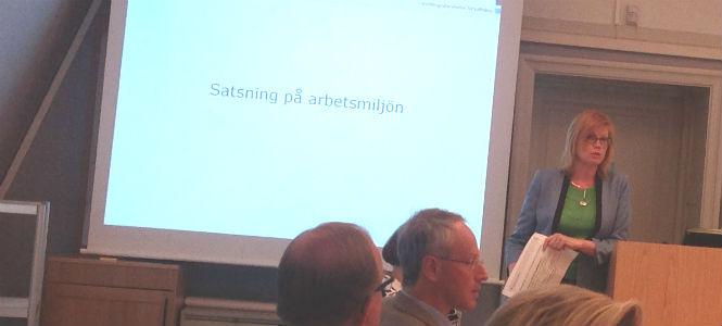 Anna Starbrink presenterar landsingets satsning på arbetsmiljöåtgärder
