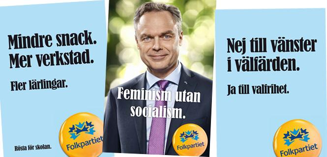 Valaffischer Folkpartiet 2014