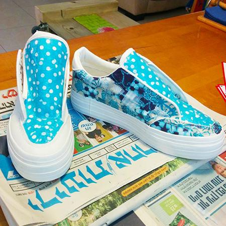 נעליים דקופאצ' כחול נקודות