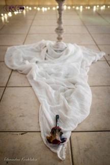 CIRCE The Black Cut 2015 @ aeaea space [port a] Bone Painting by Natalia Christofidou | image taken by Tilemachos Kouklakis©