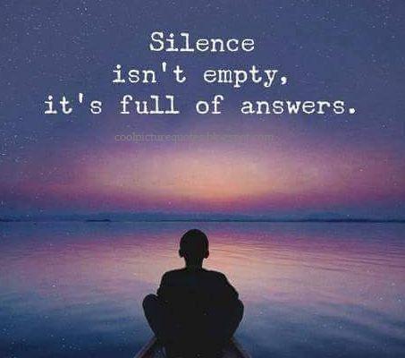 Η αξία της σιωπής