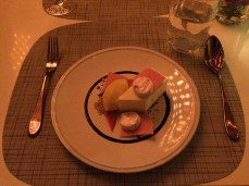White Chocolate Rhubarb Cake