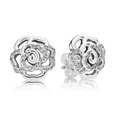 PANDORA_Mother's Day Collection 2015_Rose silver stud earrings with cubic zirconia_HK$599