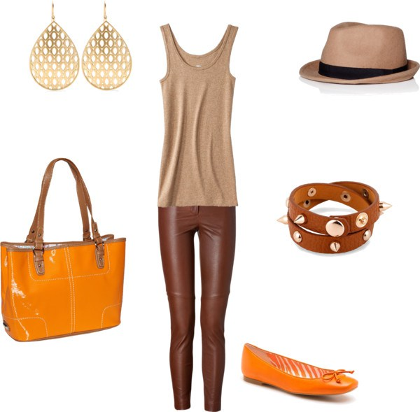 How to orange with brown by annaturcato featuring a spike bangle