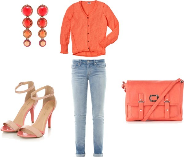 How to orange with pink by annaturcato featuring a red top