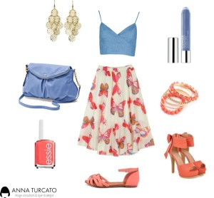 Summer look by annaturcato featuring a blue purse