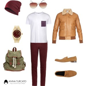 Autumn look for man di annaturcato contenente fake glasses