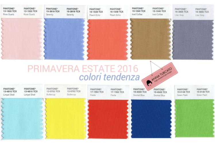 primavera estate 2016 colori tendenza