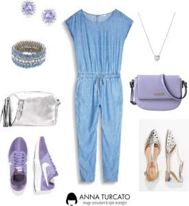 The jeans jumpsuit di annaturcato contenente blue handbags