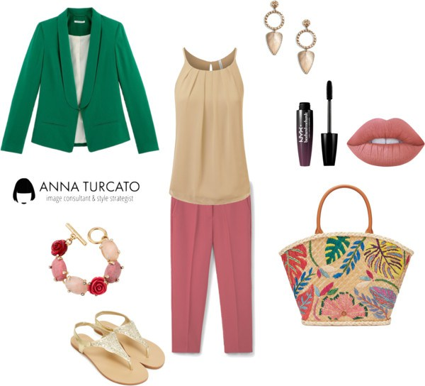 The green jacket by annaturcato featuring a lengthening mascara