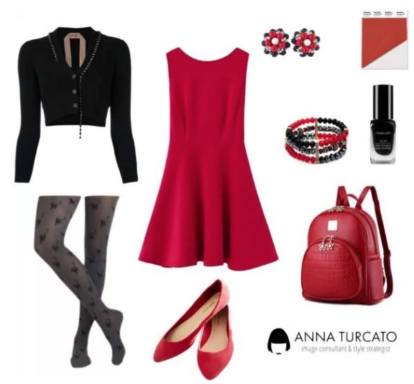 Aurora Red di annaturcato contenente red pointy toe flats