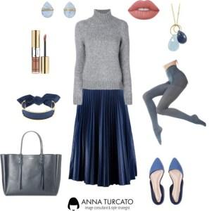 Anna-Turcato-Pleated-Blue-Skirt