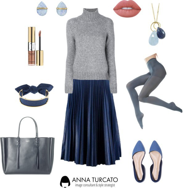 Anna-Turcato-Pleated-Blue-Skirt