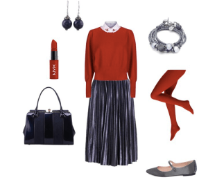 Chic Look by annaturcato featuring a red top