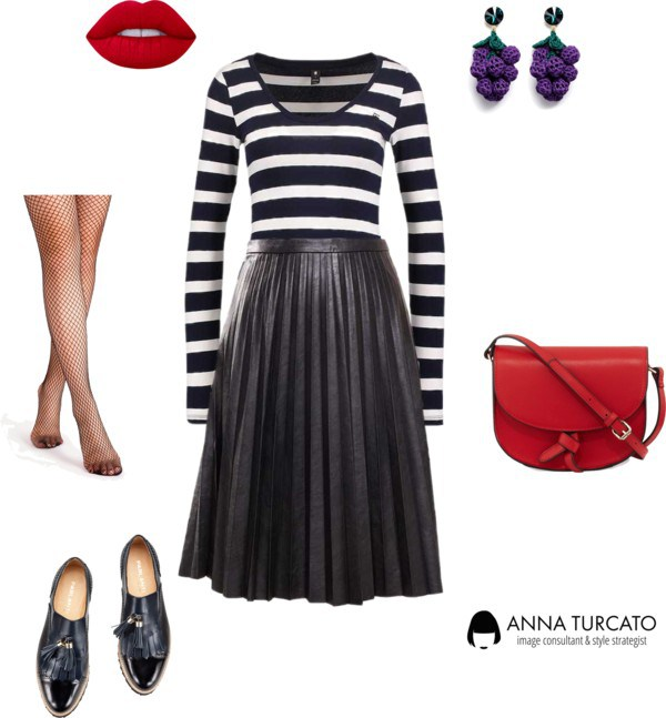 Strong Lady by annaturcato featuring a pleated skirt