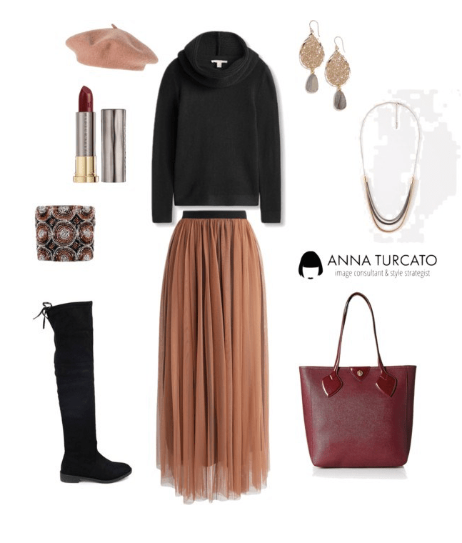 bb59fd6e6ab0 Tulle Pleated Skirt by annaturcato featuring a wrap poncho