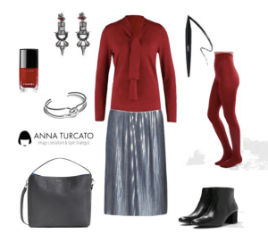 Winter Girl by annaturcato featuring an opaque hosiery