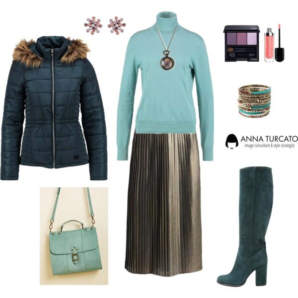Anna-Turcato-Gold-Plisse-Skirt