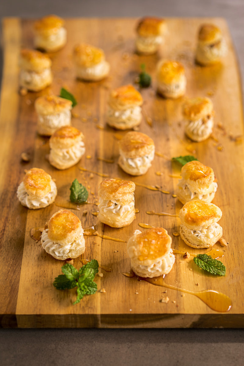 Pear Goat Cheese Volovans Recipe