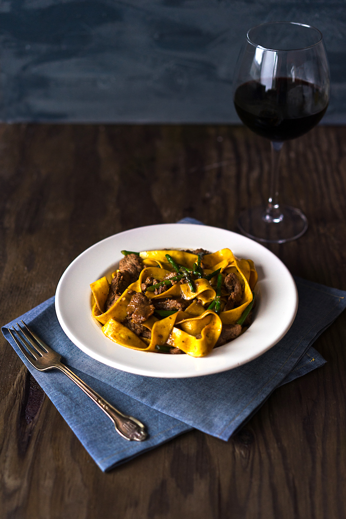 Stir-Fry Pappardelle