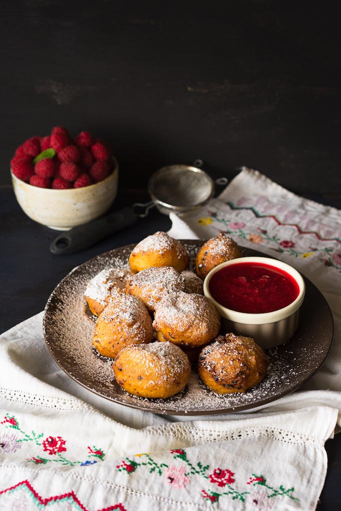 Сottage Cheese Doughnuts with Raspberries