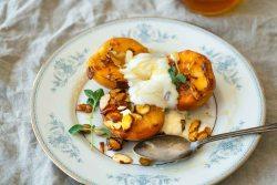 Seared Peaches with Greek Yogurt
