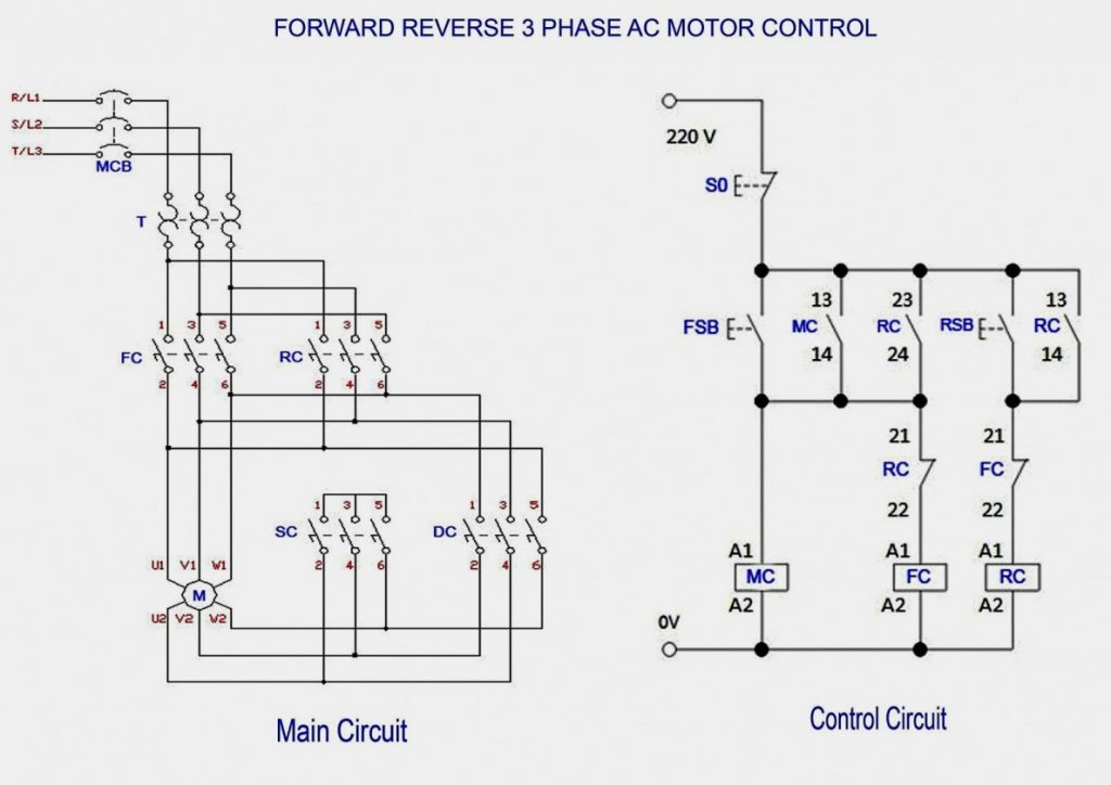 3 Phase Motor Starter Wiring Diagram Manual Schematic