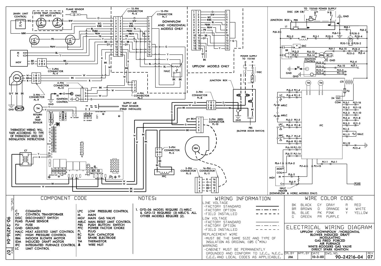 Older Gas Furnace Wiring Diagram Wiring Diagram