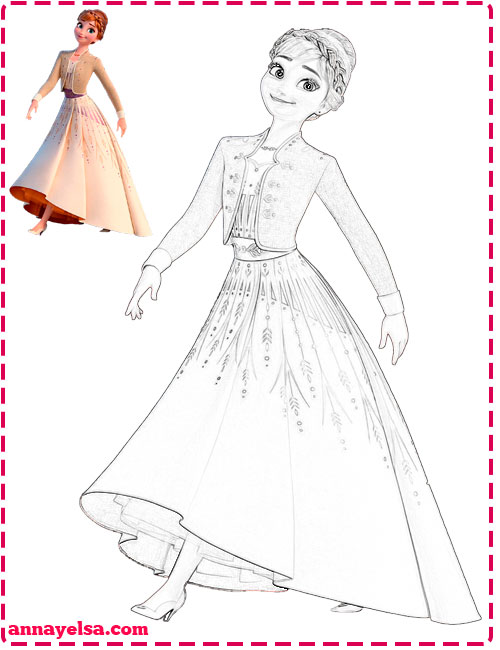 Imagenes de Frozen 2 para colorear